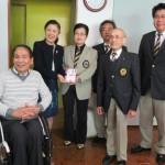 ⑮車椅子テニス大会支援金贈呈